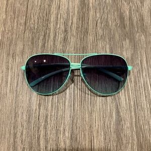 Accessories - •Light Teal / Mint Aviator Foldable Sunglasses